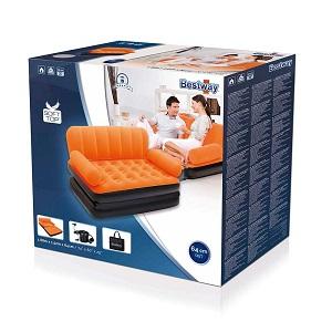 کاناپه بادی تختخوابشو دونفره نارنجی