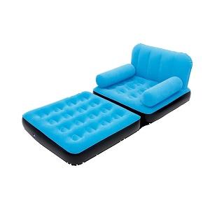 کاناپه بادی تخت شو یکنفره آبی