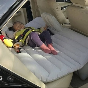 Inflatable seat behind car